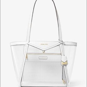 Whitney Large Clear and Leather Tote Bag
